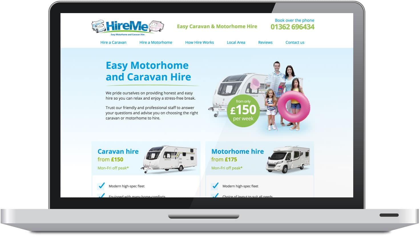 HireMe Leisure web design