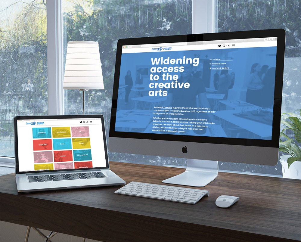 AccessHE Creative website design