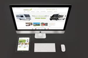 Greentrees Caravanstore WordPress website design