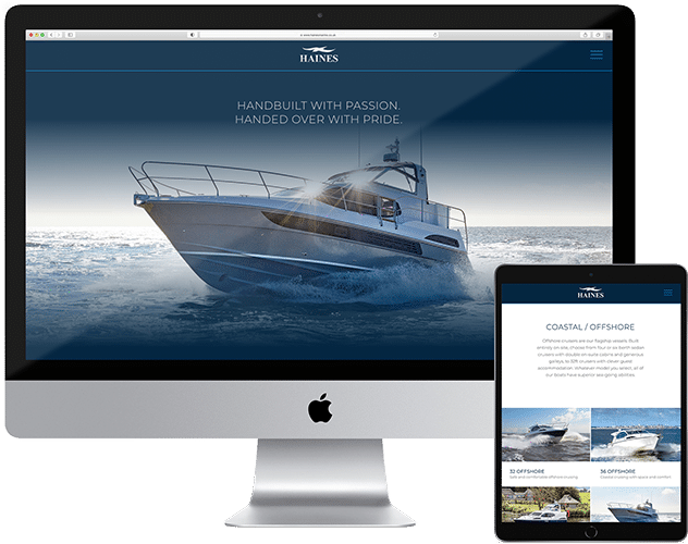 Haines Marine new website preview